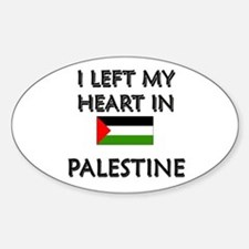 I Left My Heart In Palestine Oval Decal