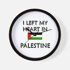 I Left My Heart In Palestine Wall Clock