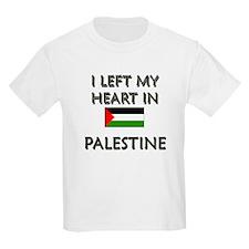 I Left My Heart In Palestine Kids T-Shirt