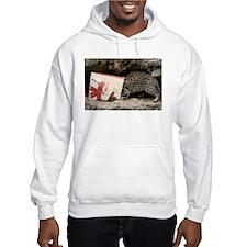 Ocelot in Snowman Bag Hooded Sweatshirt