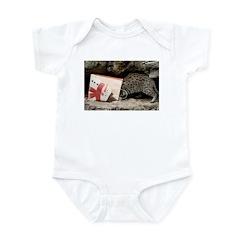 Ocelot in Snowman Bag Infant Bodysuit