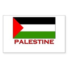 Palestine Flag Gear Rectangle Decal