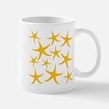 Orange Starfish Pattern. Mug