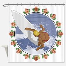 Surf Flower Shower Curtain