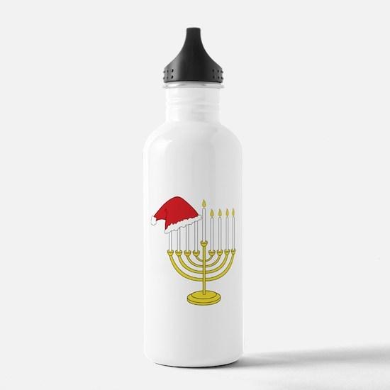 Hanukkah And Christmas Water Bottle