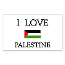 I Love Palestine Rectangle Decal
