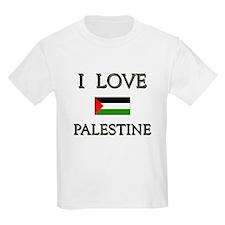 I Love Palestine Kids T-Shirt