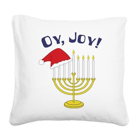Oy, Joy! Square Canvas Pillow