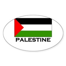 Palestine Flag Merchandise Oval Decal