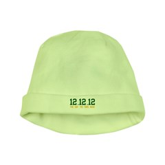 Green & Gold 12.12.12 baby hat