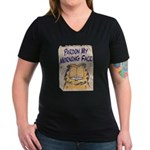 PARDON MY MORNING FACE Women's V-Neck Dark T-Shirt
