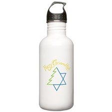 Merry Chrismukkuh Water Bottle