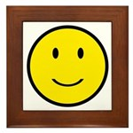 Happy Face Smiley Framed Tile