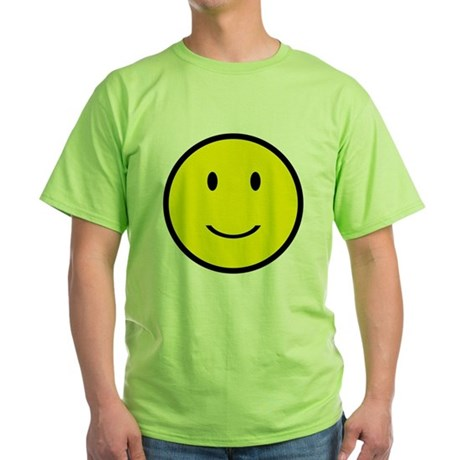 Happy Face Smiley Green T-Shirt