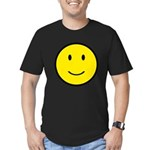 Happy Face Smiley Men's Fitted T-Shirt (dark)