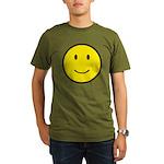 Happy Face Smiley Organic Men's T-Shirt (dark)