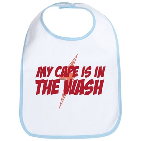 My Cape Is In The Wash - Baby Bib