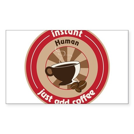 Instant Human Sticker (Rectangle)
