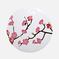 flowering quince Ornament (Round)