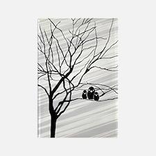 Winter Tree White Rectangle Magnet