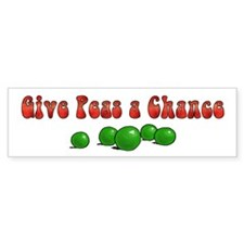 Orange Peas Bumper Bumper Sticker