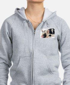 Micro pig chilling out Zip Hoodie