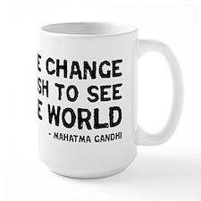 quote_gandhi_change_white Mugs