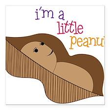 """Little Peanut Square Car Magnet 3"""" x 3"""""""