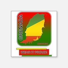 """Grenada Wear It Proud Square Sticker 3"""" x 3"""""""