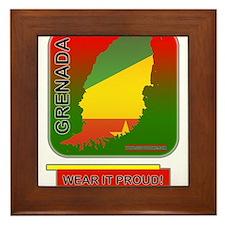 Grenada Wear It Proud Framed Tile