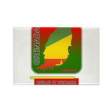 Grenada Wear It Proud Rectangle Magnet