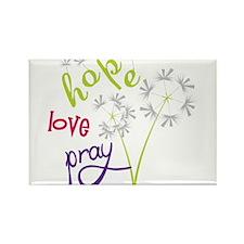 Hope Love Pray Rectangle Magnet