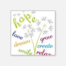 """Dandelion Hope Square Sticker 3"""" x 3"""""""