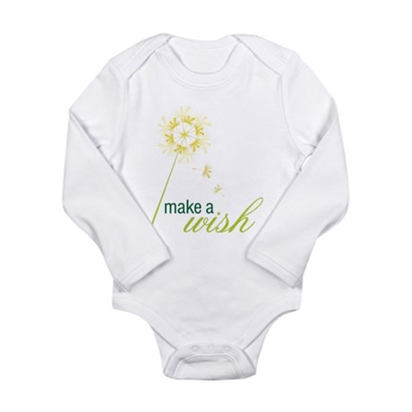 Make A Wish Long Sleeve Infant Bodysuit