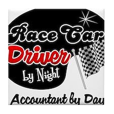 Race Car Driver Accountant Tile Coaster