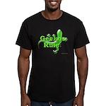 Geckos Rule Men's Fitted T-Shirt (dark)