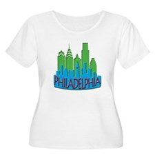 Philly Skyline Newwave Primary T-Shirt