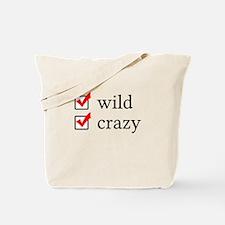 Wild and Crazy Checklist Tote Bag