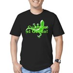 Cuidado el Gecko Men's Fitted T-Shirt (dark)