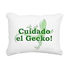 Cuidado el Gecko Rectangular Canvas Pillow