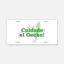 Cuidado el Gecko Aluminum License Plate
