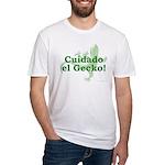 Cuidado el Gecko Fitted T-Shirt