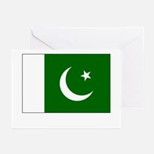 Pakistan Flag Picture Greeting Cards (Pk of 10