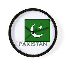 Pakistan Flag Stuff Wall Clock