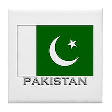 Pakistan Flag Stuff Tile Coaster