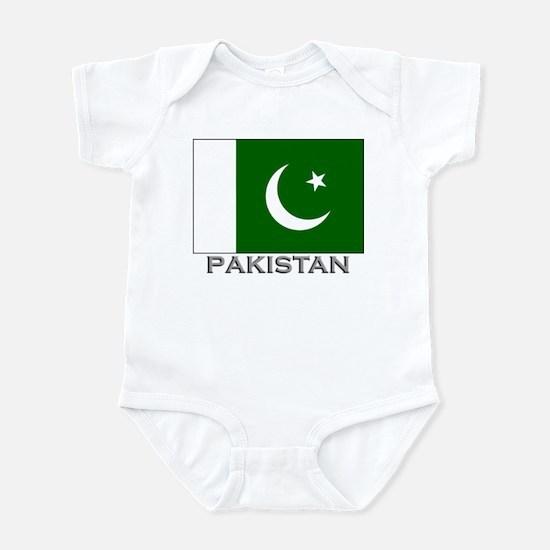 Pakistan Flag Stuff Infant Bodysuit