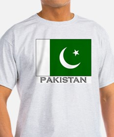 Pakistan Flag Stuff Ash Grey T-Shirt