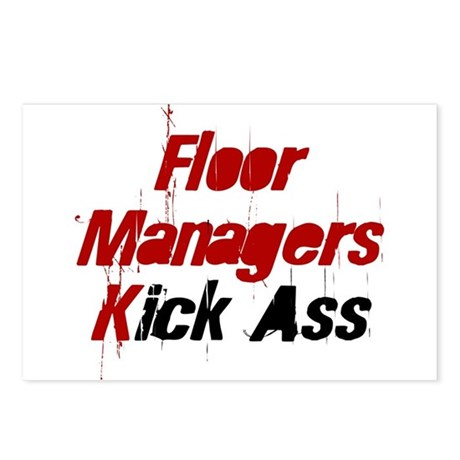 Floor Managers Kick Ass Postcards (Package of 8)