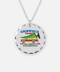 Griswold Family Christmas Tree Necklace Circle Cha