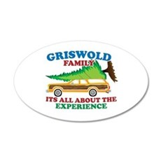 Griswold Family Christmas Tree 22x14 Oval Wall Pee